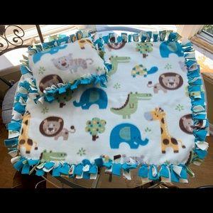 Animal Baby Fleece Knot Blanket